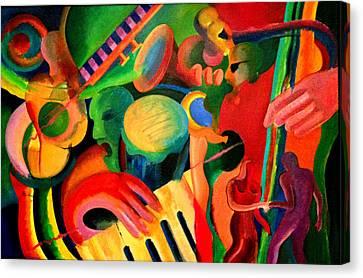 Los Hieros - The Irons Canvas Print by John Crespo Estrella