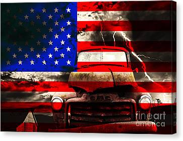 Lost In America Canvas Print by Wingsdomain Art and Photography