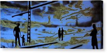 Lost In Translation - Serigrafia Arte Urbano Canvas Print by Arte Venezia