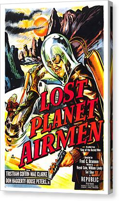 Lost Planet Airmen, Poster Art, 1951 Canvas Print by Everett