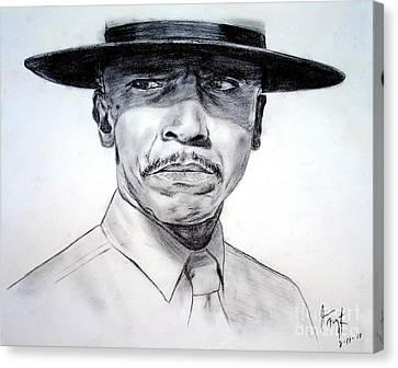 Louis Gossett Jr In An Officer And A Gentleman Canvas Print by Jim Fitzpatrick