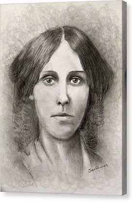 Louisa May Alcott Canvas Print by Jack Skinner