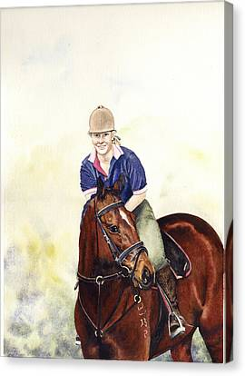 Louise And Bare Canvas Print by Carol McLagan