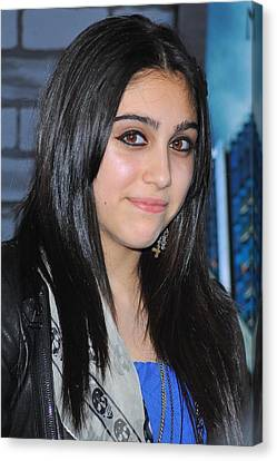 Lourdes Ciccone-leon At Arrivals Canvas Print by Everett