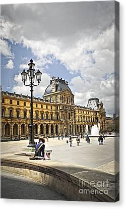 Louvre Museum Canvas Print by Elena Elisseeva