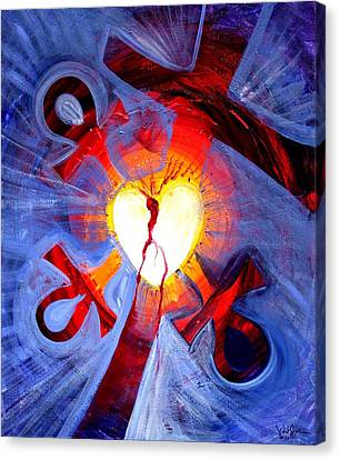 Love - In Three ... For All Canvas Print by J Vincent Scarpace