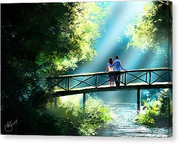 Love And Light  Canvas Print by Kiran Kumar