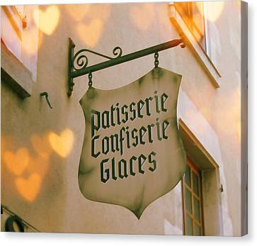 Love At The Patisserie Canvas Print by Georgia Fowler