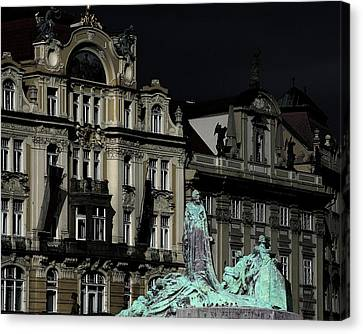 Love Each Other And Wish The Truth To Everyone - Jan Hus Prague Canvas Print by Christine Till