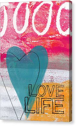 Love Life Canvas Print by Linda Woods