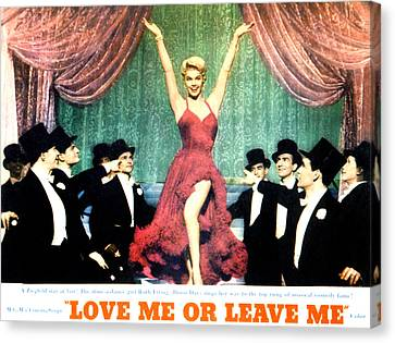 Love Me Or Leave Me, Doris Day, 1955 Canvas Print by Everett