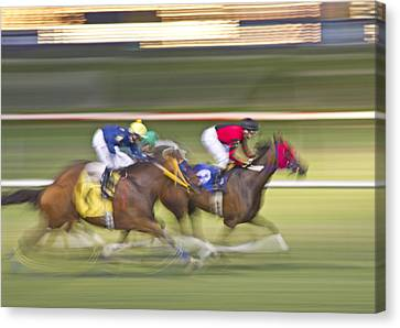 Love Of The Sport Canvas Print by Betsy Knapp