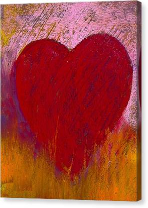 Love On Fire Canvas Print by David Patterson