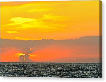 Lovely Sunset Over The Sea Canvas Print by Nino Rasic