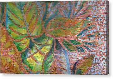 Loving Leaves  Canvas Print by Anne-Elizabeth Whiteway