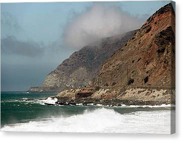 Low Clouds On The Pacific Coast Highway Canvas Print by John Rizzuto