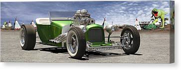 Lowrider At Painted Desert 2 Canvas Print by Mike McGlothlen
