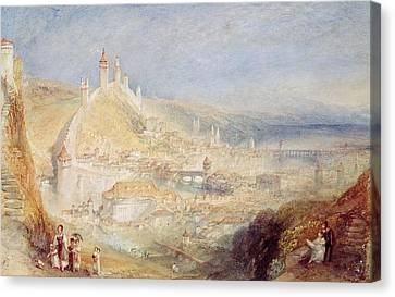 Lucerne From The Walls Canvas Print by Joseph Mallord William Turner