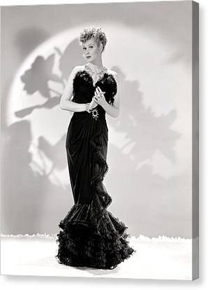Lucille Ball Models A Lovely Black Canvas Print by Everett