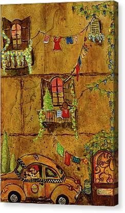 Luigi's Taxi Canvas Print by Gypsy McKinna