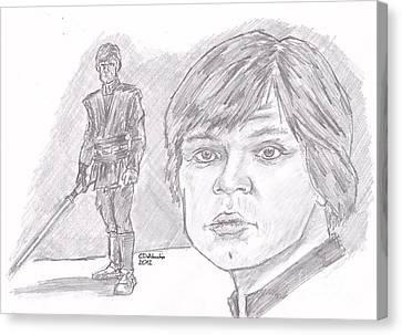 Luke Skywalker Episode Vi Canvas Print by Chris  DelVecchio