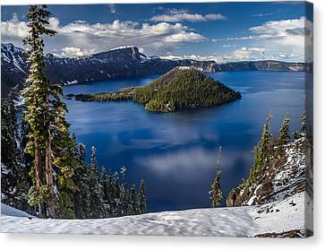 Luminous Crater Lake Canvas Print by Greg Nyquist