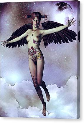 Luna Angelica Canvas Print by Maynard Ellis