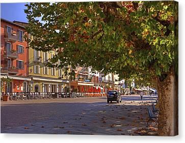 Lungolago Ascona Canvas Print by Joana Kruse