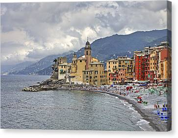 Lungomare In Camogli Canvas Print by Joana Kruse