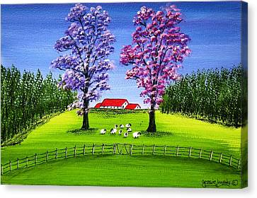 Lush Sheep Farm 4373 Canvas Print by Jessie Meier