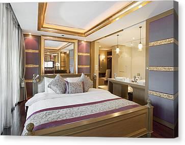 Luxury Bedroom Canvas Print by Setsiri Silapasuwanchai