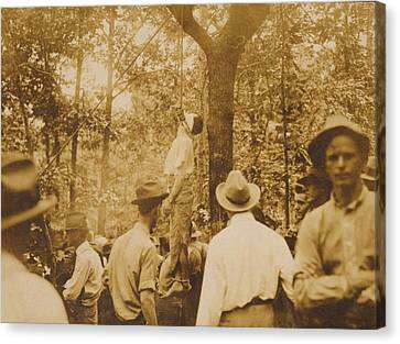 Lynching Of Leo Frank 1884-1915 Canvas Print by Everett