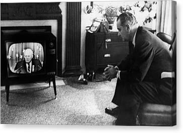 Lyndon Johnson. Us Senator And Future Canvas Print by Everett