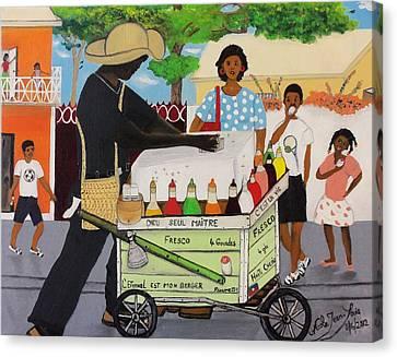 Machan Fresco Canvas Print by Nicole Jean-Louis