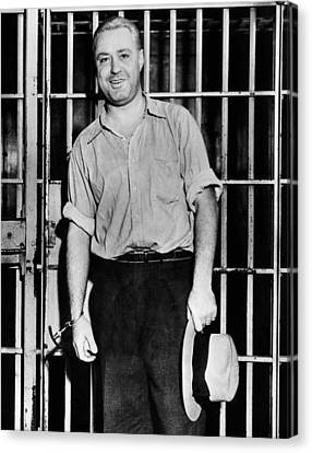 Machine Gun Kelly, Handcuffed To Cell Canvas Print by Everett