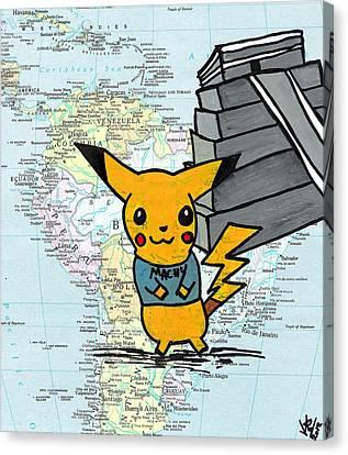 Machu Pikachu Canvas Print by Jera Sky