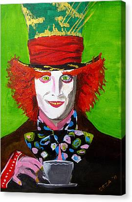 Mad Hatter Canvas Print by Deza Villanueva