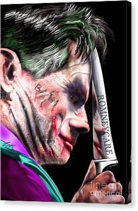 Mad Men Series 2 Of 6 - Romney The Joker Canvas Print by Reggie Duffie