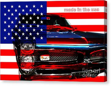 Made In The Usa . Pontiac Gto Canvas Print by Wingsdomain Art and Photography