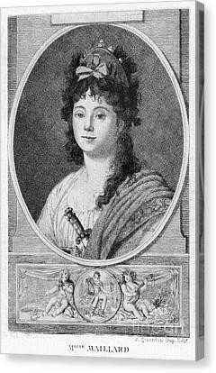 Mademoiselle Maillard Canvas Print by Granger