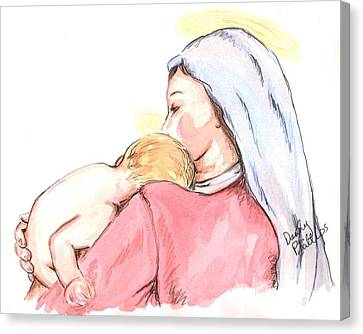 Madonna And Child II Canvas Print by Denny Phillips