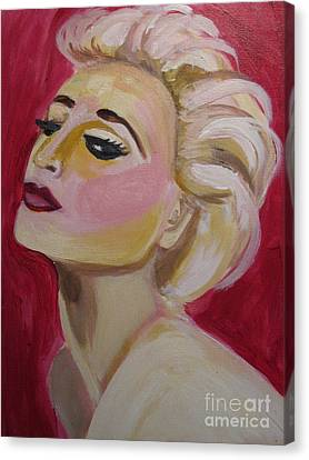 Madonna Red Hot Canvas Print by Diana Riukas