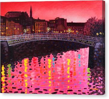 Magenta Evening Dublin Canvas Print by John  Nolan