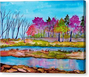 Magenta Woods Canvas Print by Brenda Owen