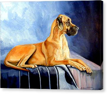 Magesty Great Dane Canvas Print by Lyn Cook