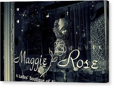 Maggie Rose Canvas Print by Wendy Mogul