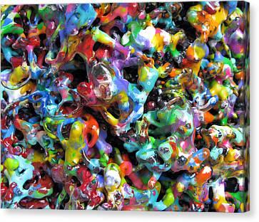 Magic  Colors  Sculpture  Nineteen  Ninety  Nine Canvas Print by Carl Deaville