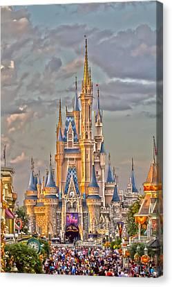Magic Kingdom Magic Hour Canvas Print by Nicholas Evans