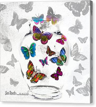 Magic Moth Jar Canvas Print by Suni Roveto