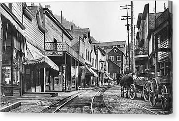 Mainstreet Burke Ghost Town - Idaho Canvas Print by Daniel Hagerman